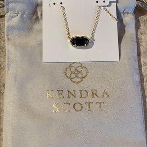Kendra Scott's Elisa gold blue necklace stone